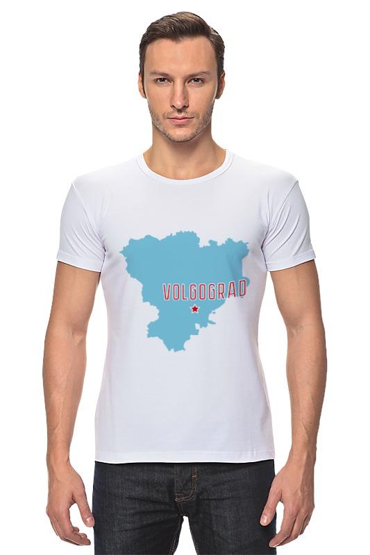 Футболка Стрэйч Printio Волгоградская область. волгоград авто за 300 тысяч волгоград