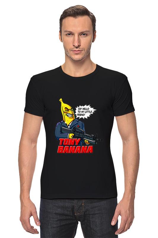 Футболка Стрэйч Printio Tony banana джинсы реплей официальный сайт