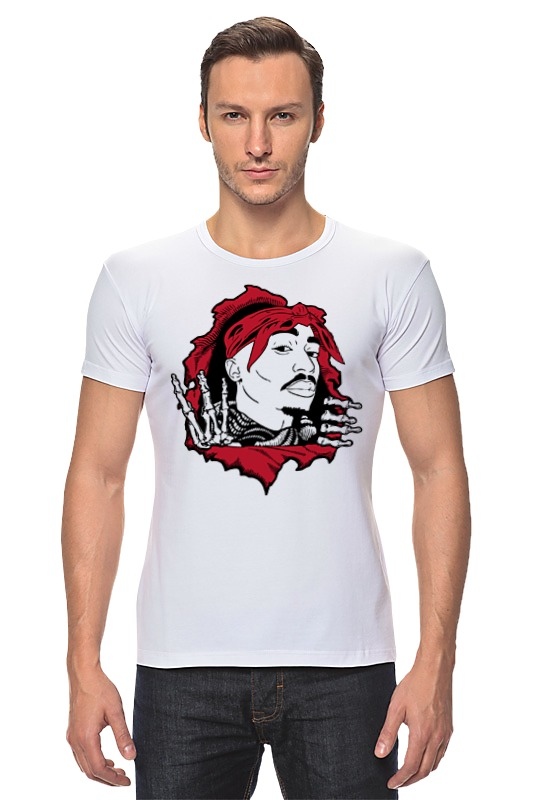 Футболка Стрэйч Printio Тупак шакур (2pac) футболка wearcraft premium printio 2pac tupac