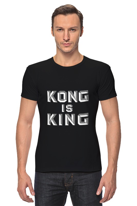 Футболка Стрэйч Printio Kong is king (кинг конг) визитница yves saint laurent 45249591mj ysl