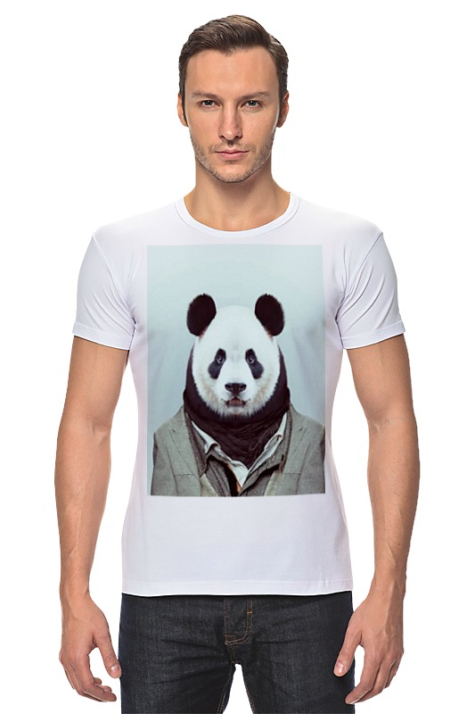 Футболка Стрэйч Printio Деловая панда