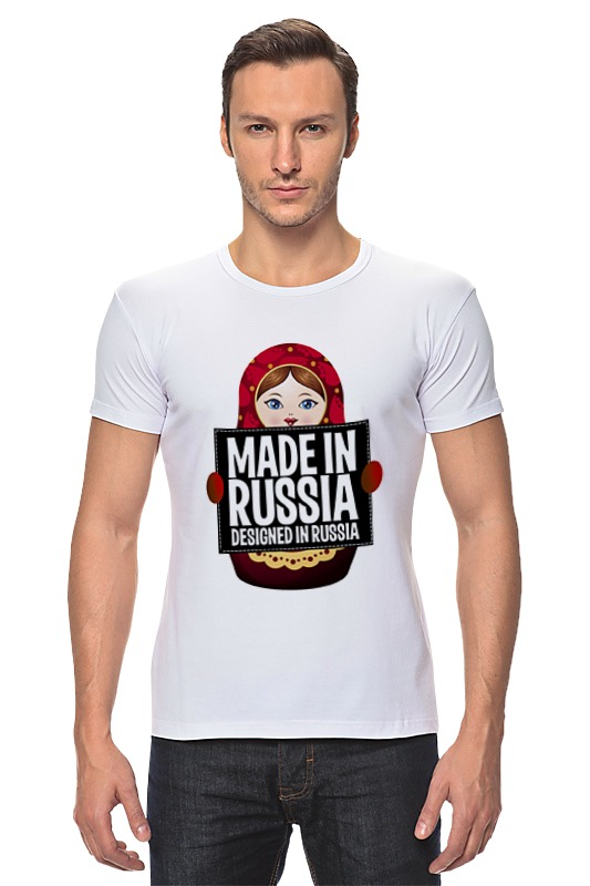 Футболка Стрэйч Printio Made in russia by hearts of russia футболка рингер printio made in russia by hearts of russia