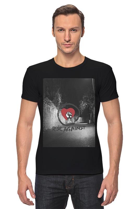 Футболка Стрэйч Printio Rise against - logo
