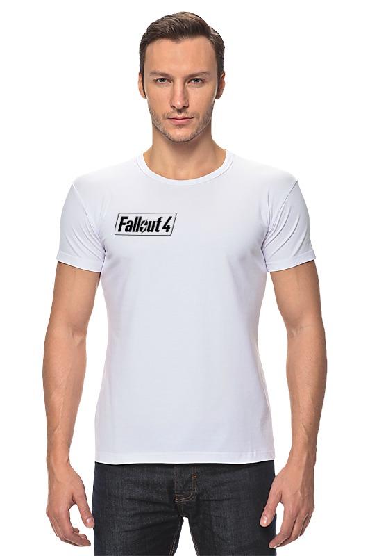 Футболка Стрэйч Printio Fallout 4 logo футболка классическая printio fallout фэллаут