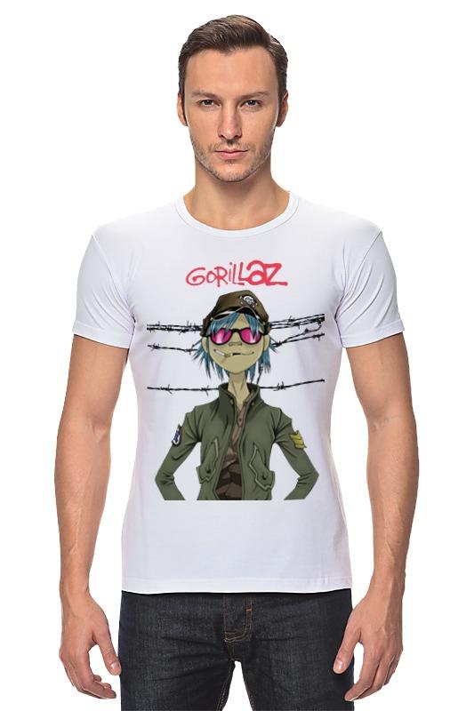 Футболка Стрэйч Printio Gorillaz купить часы с изображением музыкальной группы