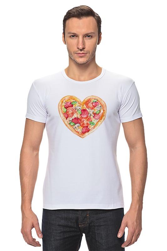 Футболка Стрэйч Printio Пицца это любовь магнит пицца с фруктами
