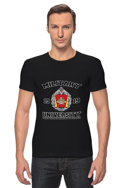 Футболка Стрэйч Printio 2016 военный университет мо рф (черная)