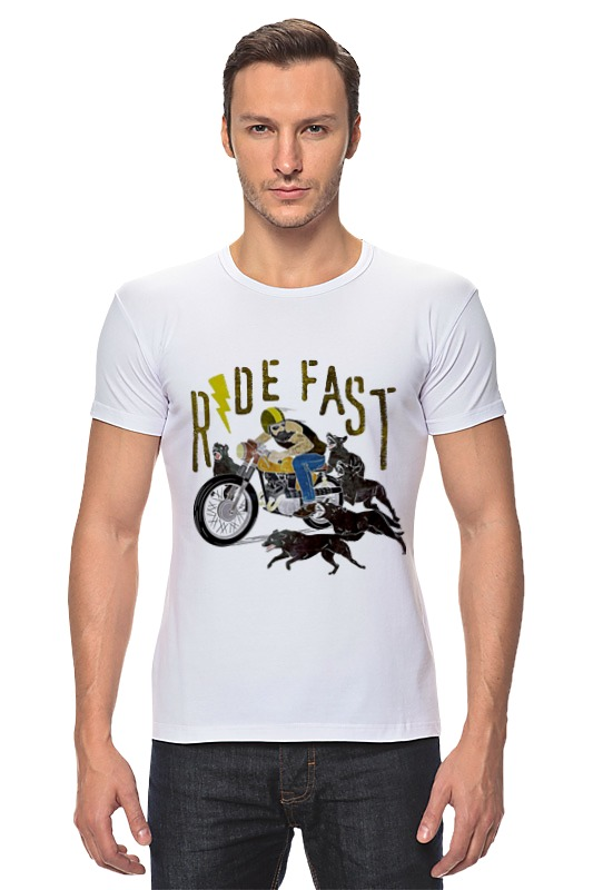 Футболка Стрэйч Printio Ride fast футболка стрэйч printio hard ride