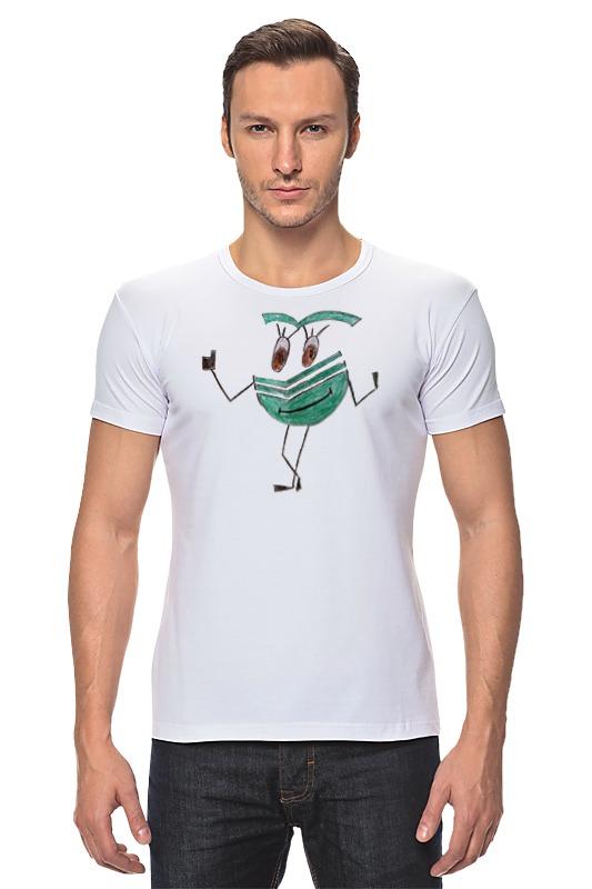 Футболка Стрэйч Printio Сберсмайлик радостный футболка классическая printio радостный крот