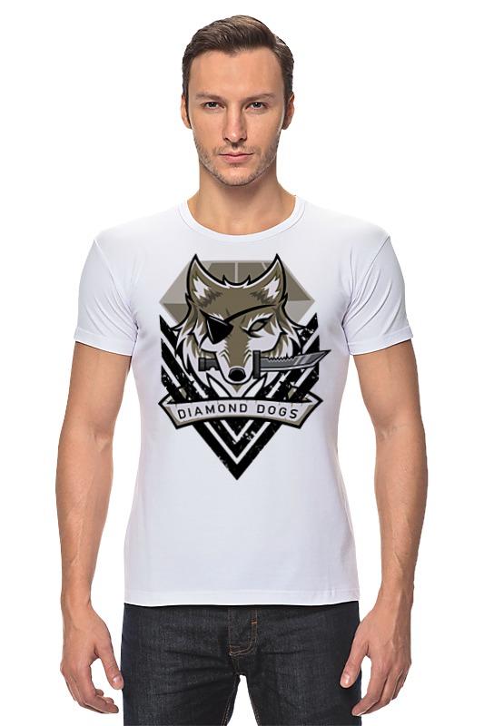 Футболка Стрэйч Printio Diamond dogs (metal gear solid)