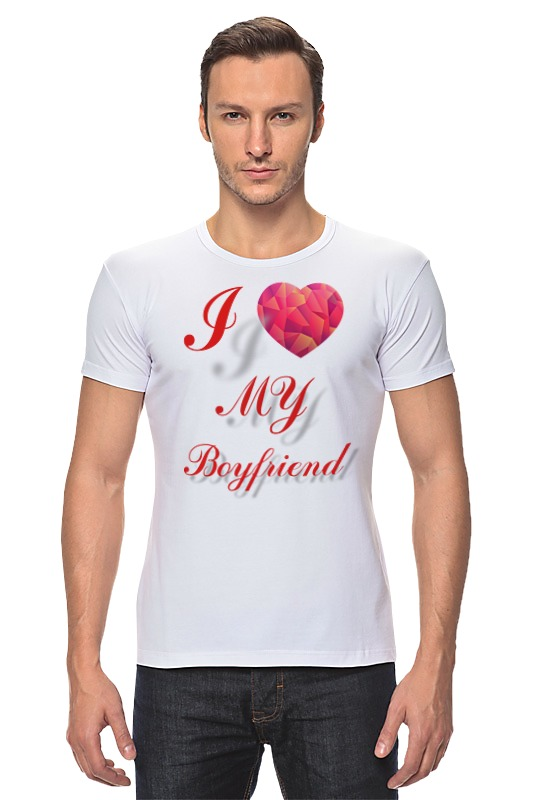 Футболка Стрэйч Printio I love my boyfriend сумка printio i love my boyfriend