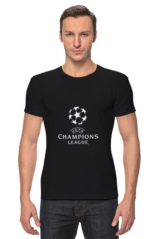 Футболка Стрэйч Printio Uefa  champions league customized crystal trophy engraved logo or words sports souvenirs grammy award glass champions rewards league cup