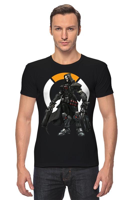 Футболка Стрэйч Printio Overwatch reaper / жнец овервотч