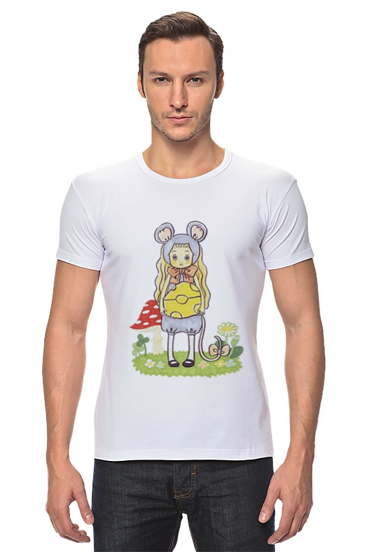Футболка Стрэйч Printio Мёд и клевер форма для аппликаций и фильцевания clover клевер и кролик