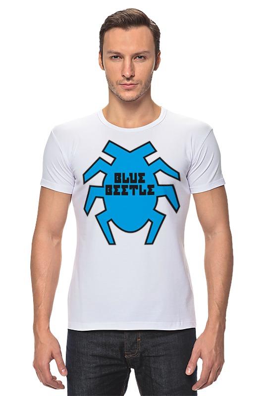 Футболка Стрэйч Printio Синий жук футболка классическая printio вольскваген жук