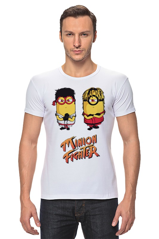 Футболка Стрэйч Printio Minion fighter футболка стрэйч printio minion bazzinga