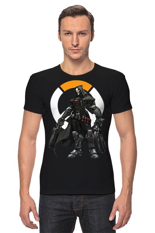 Футболка Стрэйч Printio Overwatch reaper / жнец овервотч reaper man