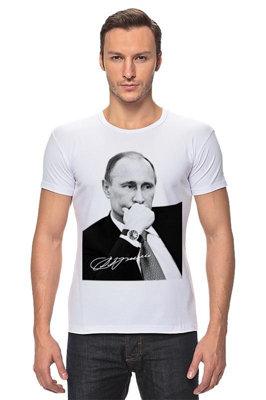 Футболка Стрэйч Printio Владимир путин by hearts of russia лонгслив printio made in russia by hearts of russia