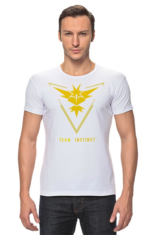 Футболка Стрэйч Printio Pokemon go team instinct свитшот print bar pokemon go instinct team