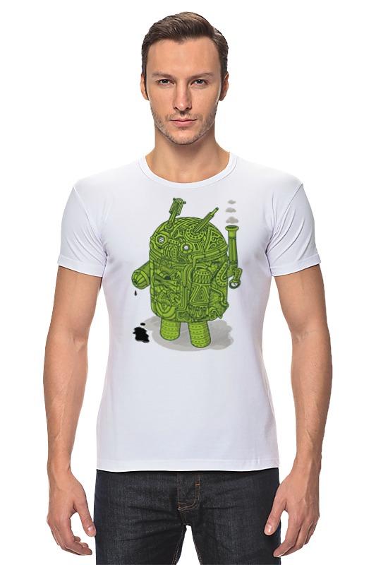 Футболка Стрэйч Printio Андроид как купить программу на маркете андроид