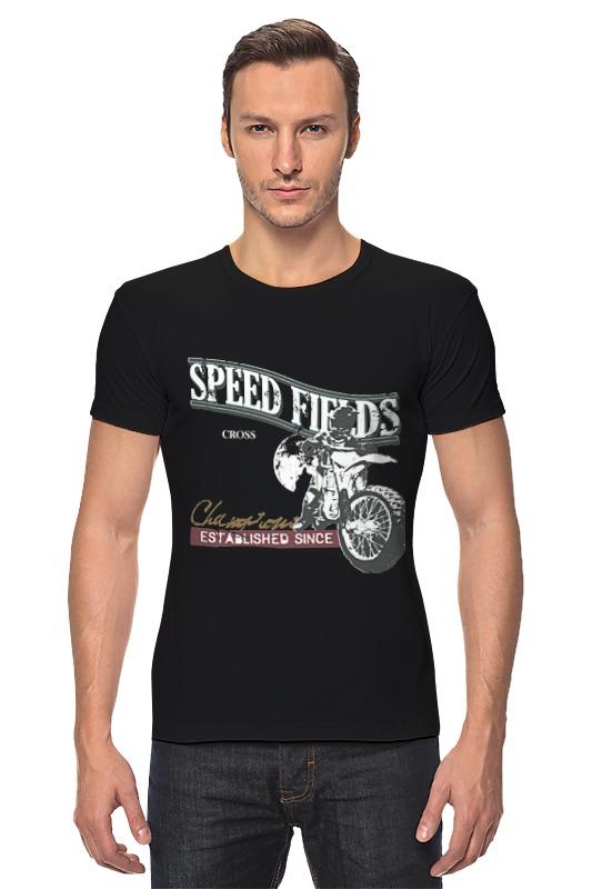 Футболка Стрэйч Printio Мото...speed fields...