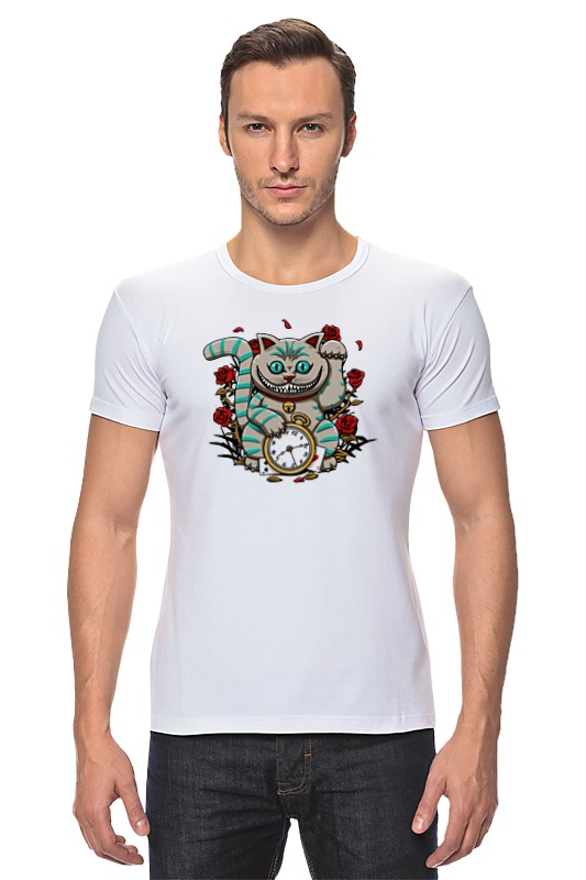 Футболка Стрэйч Printio Чеширский кот (алиса в стране чудес) пейс п игра бродилка алиса в стране чудес