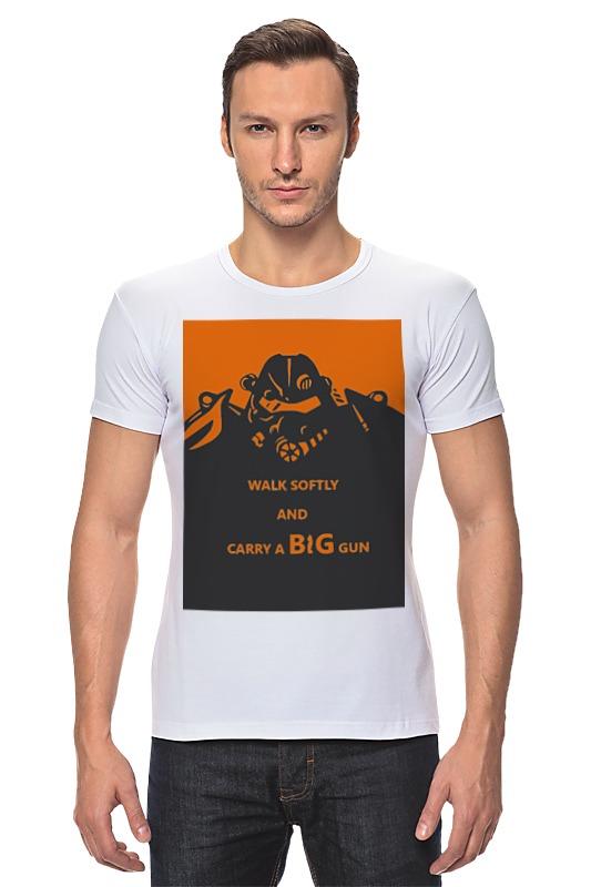 Футболка Стрэйч Printio Fallout - big gun футболка классическая printio fallout фэллаут