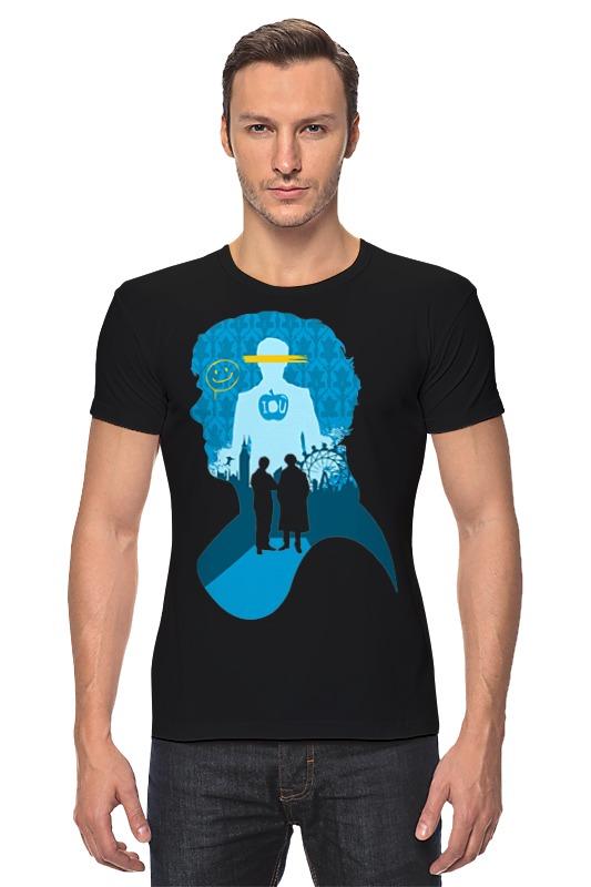 Футболка Стрэйч Printio Шерлок холмс (sherlock holmes) футболка с полной запечаткой для мальчиков printio шерлок холмс sherlock holmes