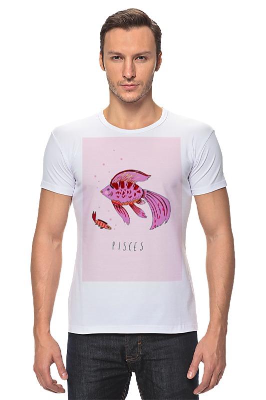 Футболка Стрэйч Printio Знаки зодиака. рыбы. лонгслив printio знаки зодиака рыбы