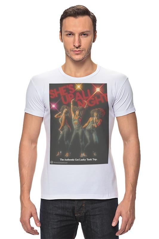 Футболка Стрэйч Printio Daft punk - get lucky футболка tintin lucky