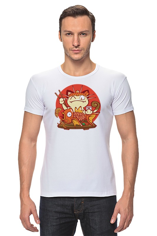 Футболка Стрэйч Printio Кот и золотая рыбка футболка стрэйч printio кот и золотая рыбка