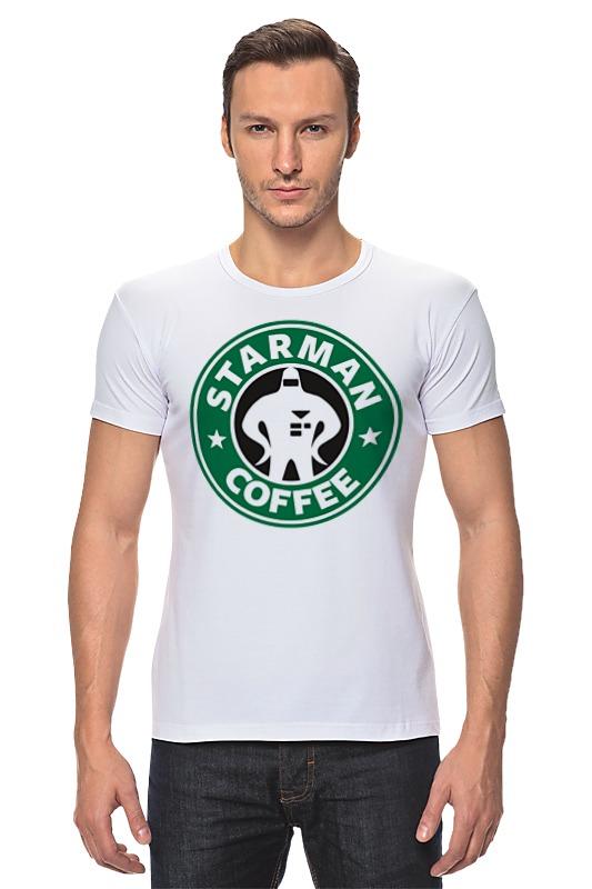 Футболка Стрэйч Printio Starman coffee футболка wearcraft premium printio starman coffee