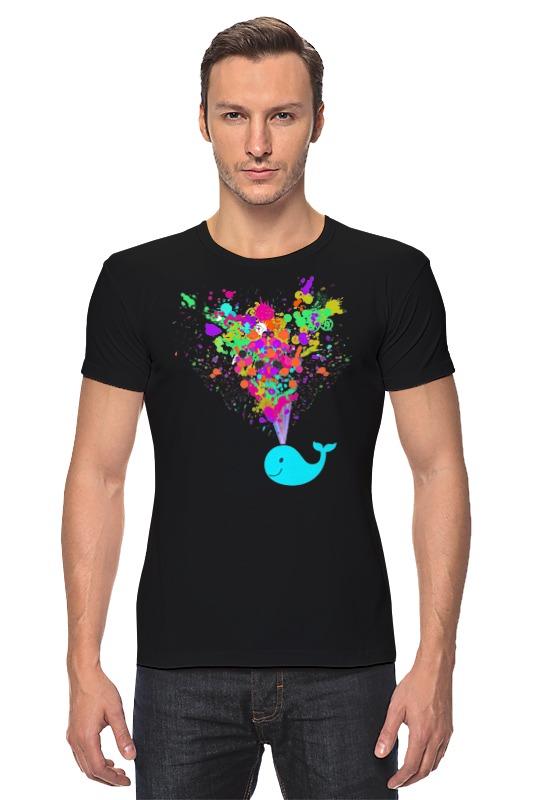 Футболка Стрэйч Printio Радужный кит футболка для беременных printio кит ричардс