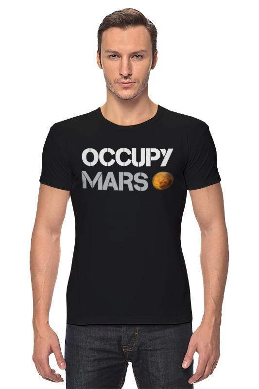 Футболка Стрэйч Printio Occupy mars 1pc used 140plc empty slot occupy 140xcp51000