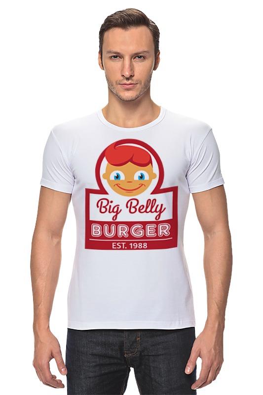 Футболка Стрэйч Printio Big belly burger хочу автомат для продажи фаст фуда