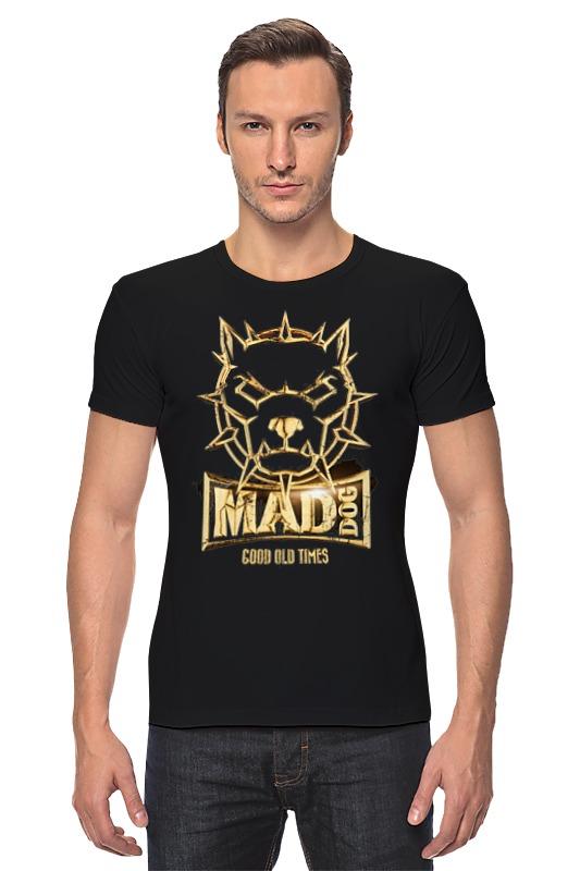 Футболка Стрэйч Printio Mad dog gold сумка printio gta 5 dog