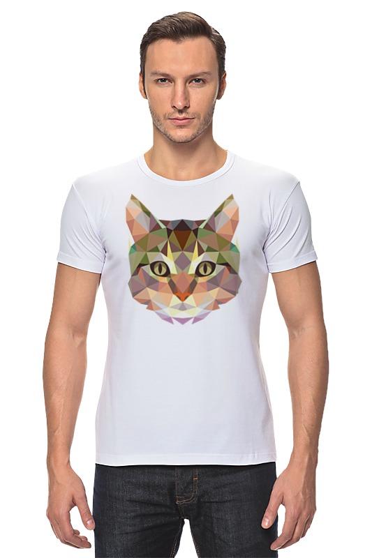Футболка Стрэйч Printio Полигональный кот футболка стрэйч printio черно белый кот