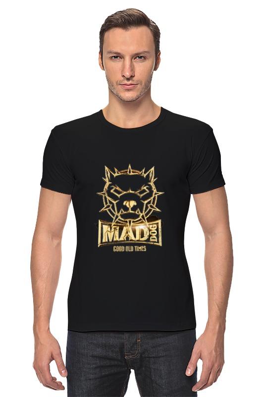 Футболка Стрэйч Printio Mad dog gold mad about organics all natural dog