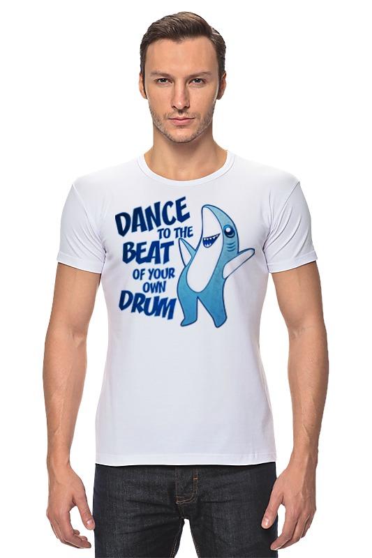 Футболка Стрэйч Printio Танцующая акула футболка рингер printio акула