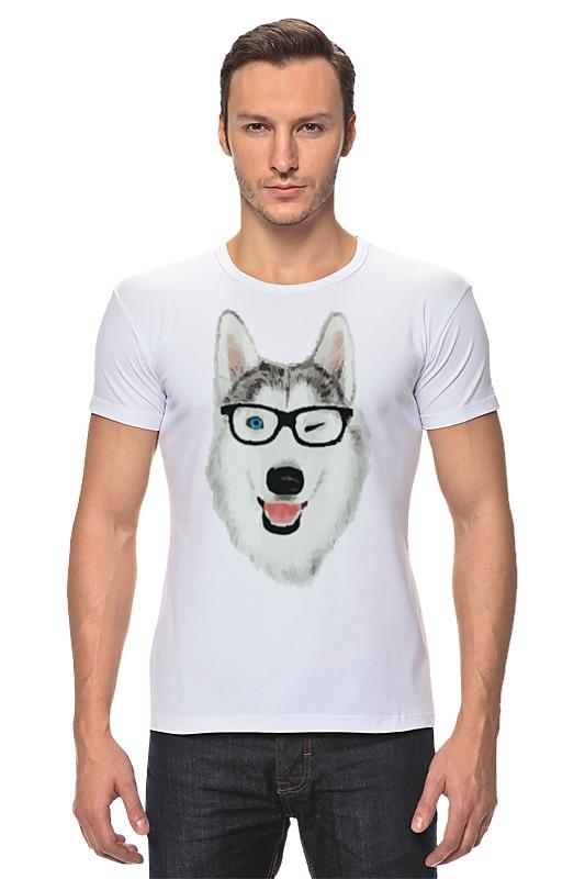 Футболка Стрэйч Printio Хаски в очках что необходимо для хаски содержащейся в квартире
