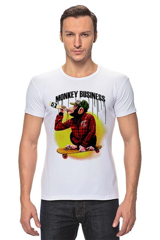 Футболка Стрэйч Printio Monkey (обезьяна) футболка стрэйч printio hamlet monkey