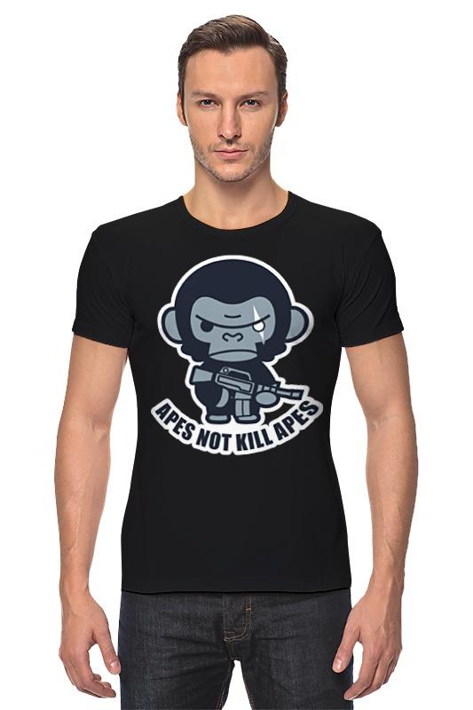 Футболка Стрэйч Printio Обезьяны не убивают (планета обезьян) футболка с полной запечаткой printio планета обезьян planet of the apes