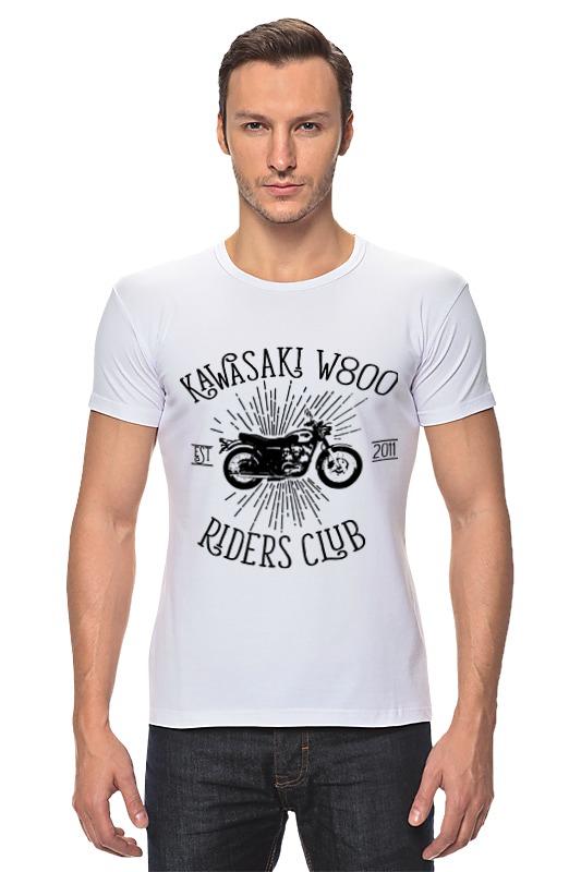 Футболка Стрэйч Printio Kawasaki w800 riders club футболка rude riders футболка