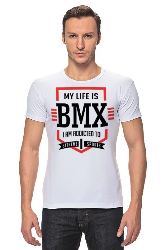 Футболка Стрэйч Printio Bmx - моя жизнь