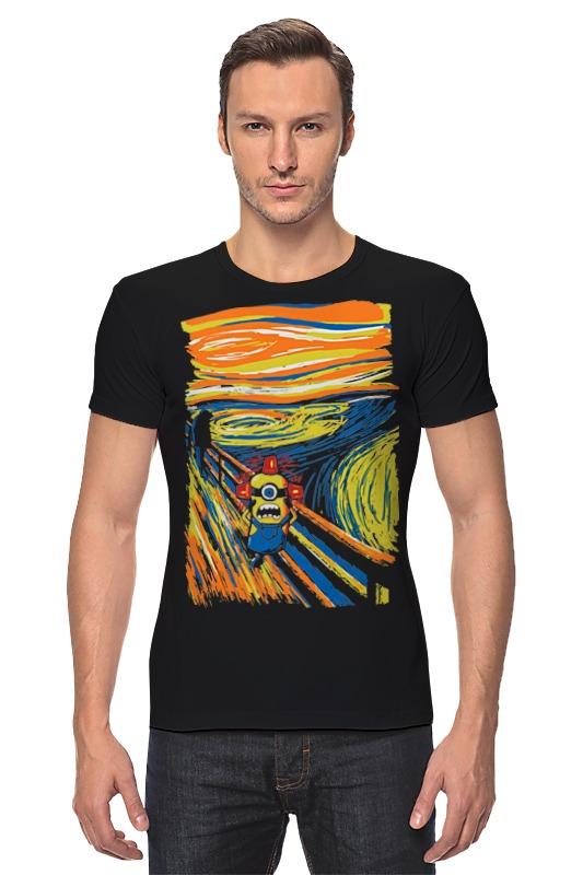 Футболка Стрэйч Printio Крик миньона (эдвард мунк) серая футболка для мальчика миньона 38