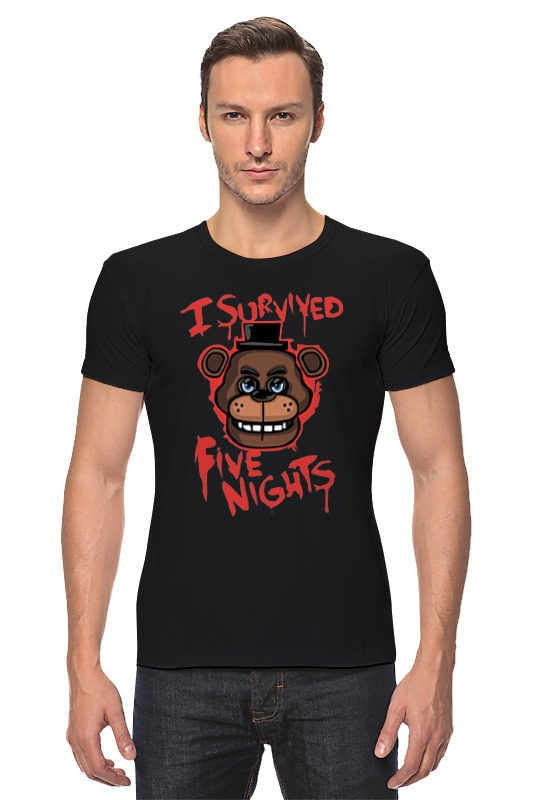 Футболка Стрэйч Printio Five nights at freddy майка классическая printio five nights at freddy