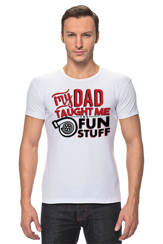 Футболка Стрэйч Printio My dad (fun stuff)
