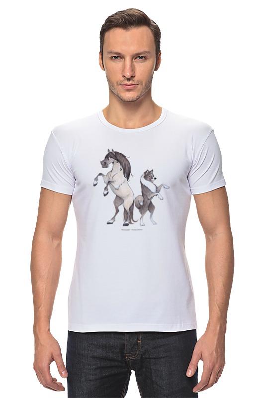 Футболка Стрэйч Printio Якутская лошадь/якутская лайка