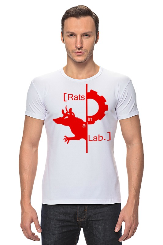 Футболка Стрэйч Printio Лабораторная крыса центрифуга лабораторная cm 6mt