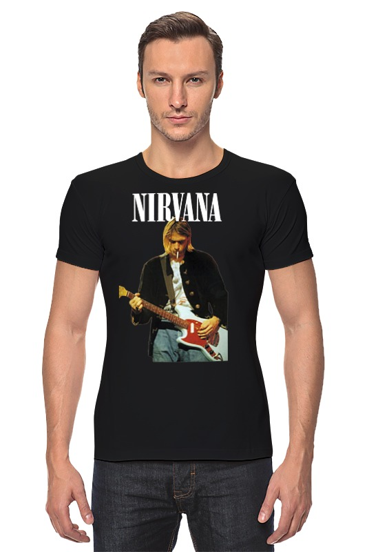 Футболка Стрэйч Printio Nirvana kurt cobain live & loud t-shirt nirvana